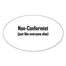 Non-Conformist... Oval Decal