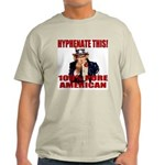 Hyphenate THIS! Angry American Ash Grey T-Shirt