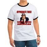 Hyphenate THIS! Angry American Ringer T