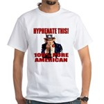 Hyphenate THIS! Angry American White T-Shirt