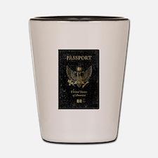 Worn United States of America Passport Shot Glass