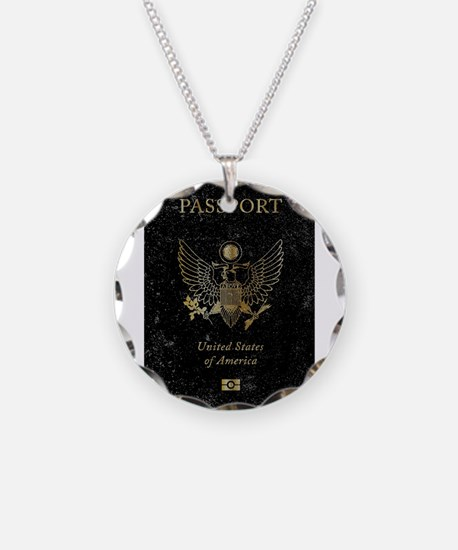 Worn United States of Americ Necklace