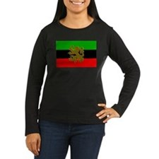 Marcus Garvey Lion Womens Long Sleeve Dark T-Shirt