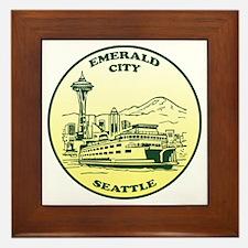 Emerald City Seattle Framed Tile