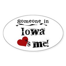Someone in Iowa Oval Decal