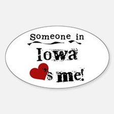 Someone in Iowa Oval Stickers