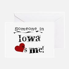 Someone in Iowa Greeting Card