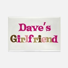 Dave's Girlfriend Rectangle Magnet