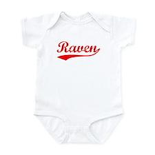 Vintage Raven (Red) Infant Bodysuit