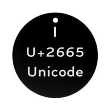 I Love Unicode Ornament (Round)