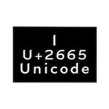I Love Unicode Rectangle Magnet