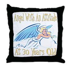 Angel Attitude 30th Throw Pillow