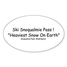 Oval Sticker Heaviest Snow