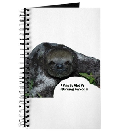 Sloth, Not a morning person Journal