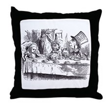 Mad Tea-Party Throw Pillow