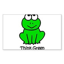 Think Green Rectangle Decal