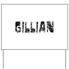 Gillian Faded (Black) Yard Sign