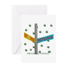 REP PISTOLVANIA WEED Greeting Card