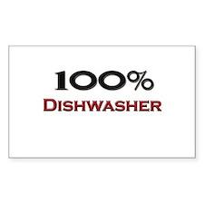 100 Percent Dishwasher Rectangle Decal