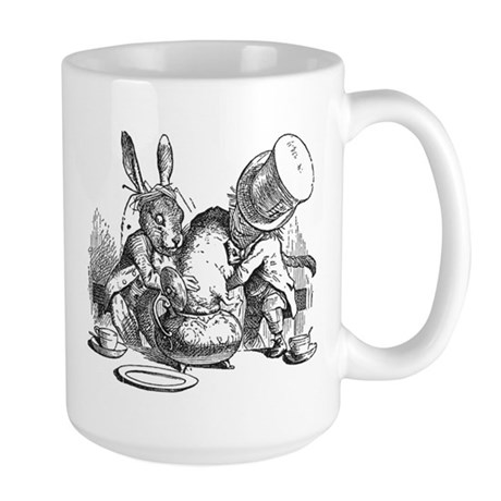 Sleepy Dormouse Large Mug
