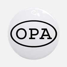 OPA Oval Ornament (Round)