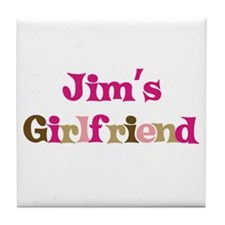 Jim's Girlfriend Tile Coaster