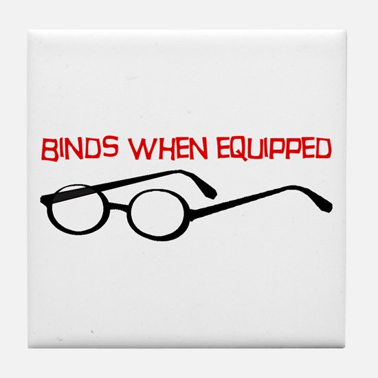 Epic Glasses Tile Coaster