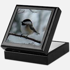 Funny Chickadee Keepsake Box