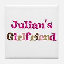 Julian's Girlfriend Tile Coaster