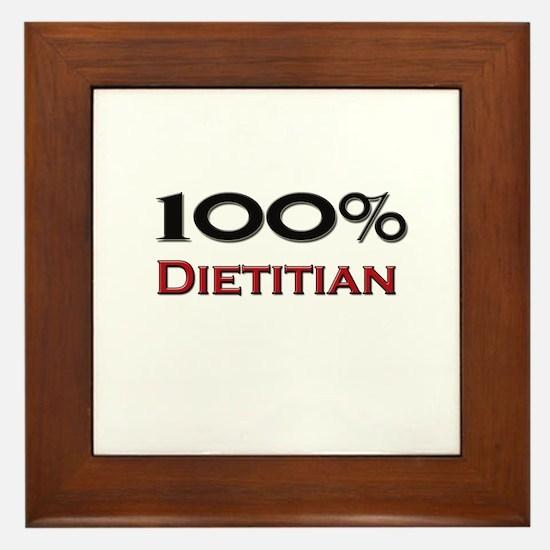 100 Percent Dietitian Framed Tile