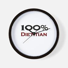 100 Percent Dietitian Wall Clock