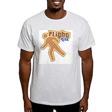Retro Flight Risk Ash Grey T-Shirt
