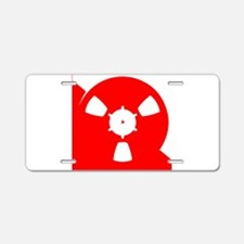 Reel of Recording Tape Aluminum License Plate