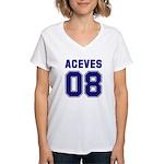 Aceves 08 Women's V-Neck T-Shirt