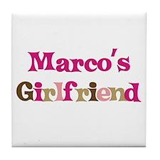 Marco's Girlfriend Tile Coaster