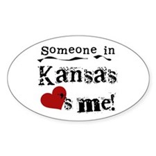 Someone in Kansas Oval Decal