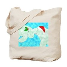 Christmas Manatees Tote Bag