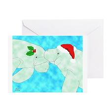 Christmas Manatees Greeting Cards (Pk of 10)