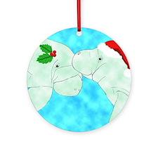 Christmas Manatees Keepsake (Round)