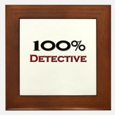 100 Percent Detective Framed Tile