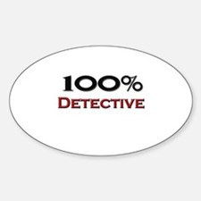 100 Percent Detective Oval Decal