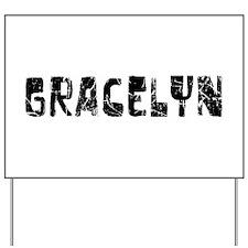 Gracelyn Faded (Black) Yard Sign
