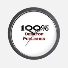 100 Percent Desktop Publisher Wall Clock