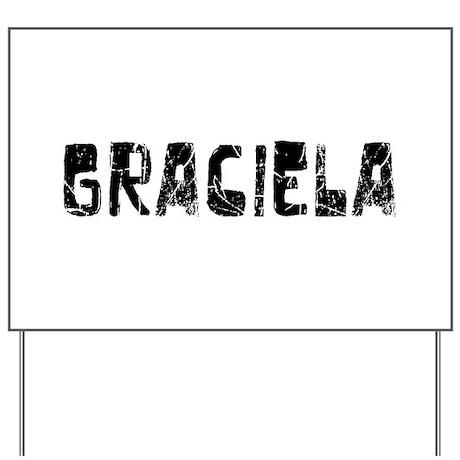 Graciela Faded (Black) Yard Sign