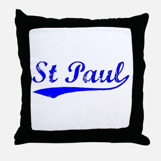 Vintage St Paul (Blue) Throw Pillow