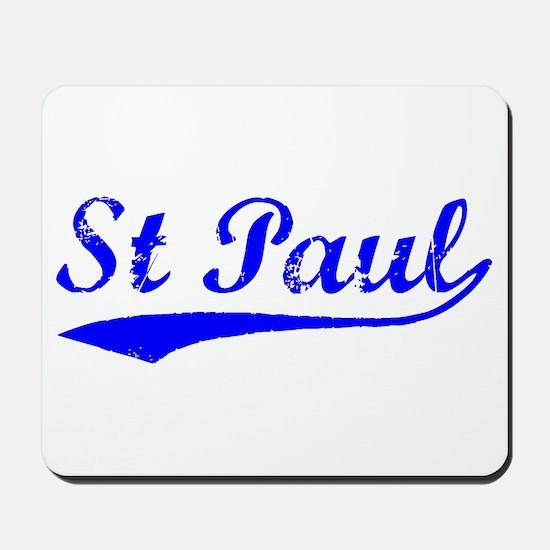 Vintage St Paul (Blue) Mousepad
