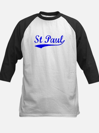 Vintage St Paul (Blue) Kids Baseball Jersey