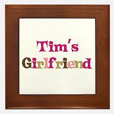 Tim's Girlfriend Framed Tile