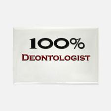 100 Percent Deontologist Rectangle Magnet