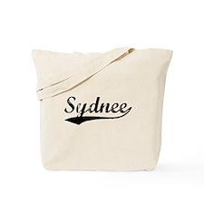 Vintage Sydnee (Black) Tote Bag